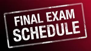 final exam schedule image