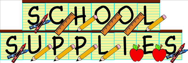school supplies graphic