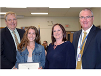 Northport-East Northport Board Recognizes English Student of the Month photo