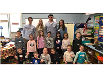 High School Heroes Visit Bellerose Elementary photo