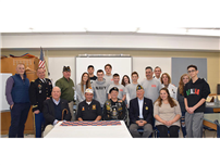 Honoring and Learning from Veterans at NHS photo
