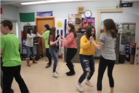 "Learning ""La Bachata"" at Northport Middle School photo 2"