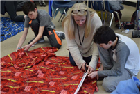 Crafting Cold-Weather Blankets at Northport Middle photo 2