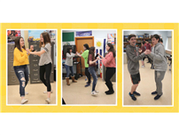 "Learning ""La Bachata"" at Northport Middle School photo"