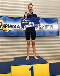 Varsity Swimmer Chloe Stepanek Wins Two State Titles photo 2