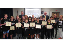 "Norwood's ""O Team"" Recognized by Board of Ed photo"