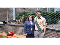 Eagle Scout project dedication at Bellerose Avenue Elementary photo